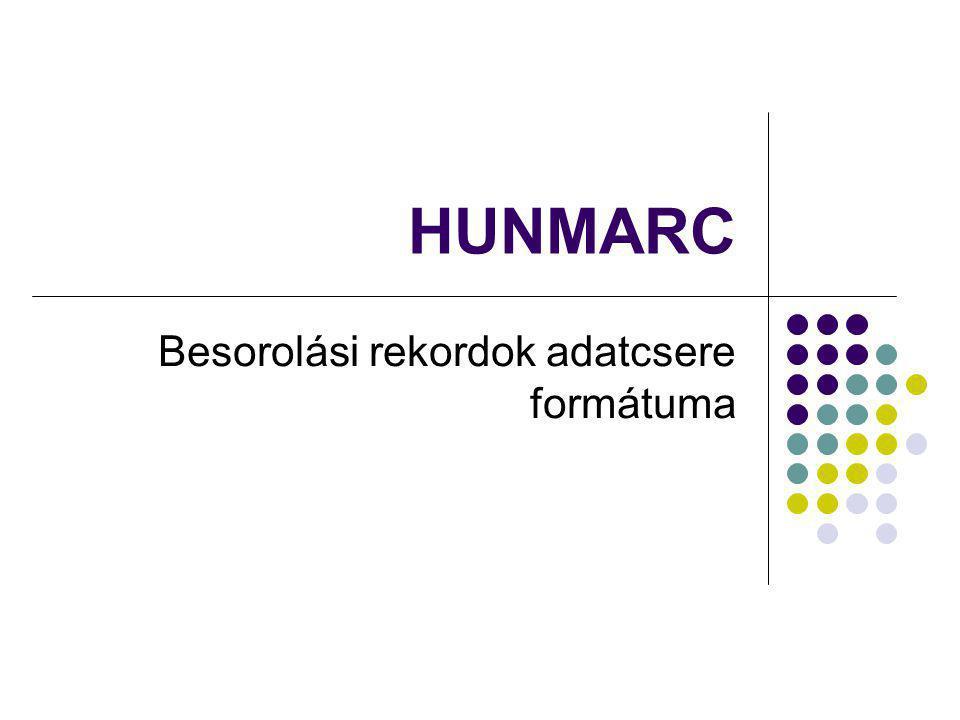 HUNMARC Besorolási rekordok adatcsere formátuma