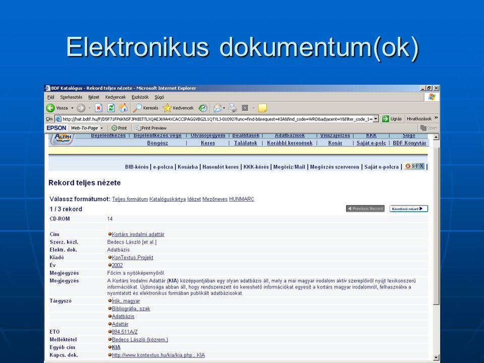 Statisztika / Szerviz menü WebOpac WebOpac 2006.01.03.