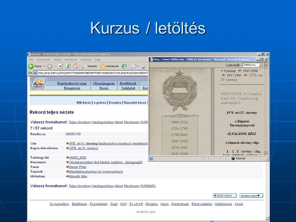 Digitális Oktatási Gyűjtemény / Statisztika