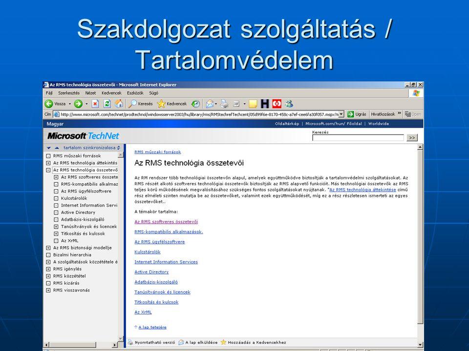 Szakdolgozat szolgáltatás / Indexelt tartalom
