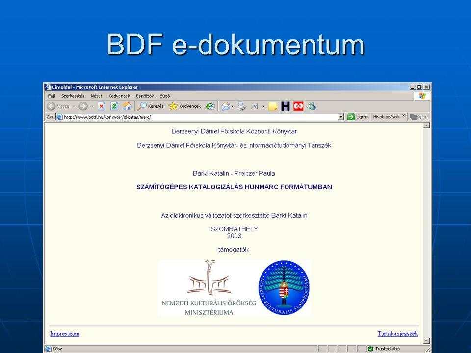 BDF e-dokumentum