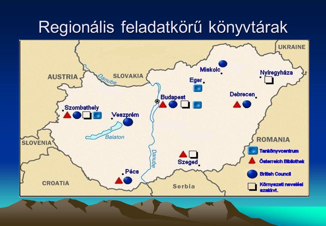 Regionális feladatkörű könyvtárak