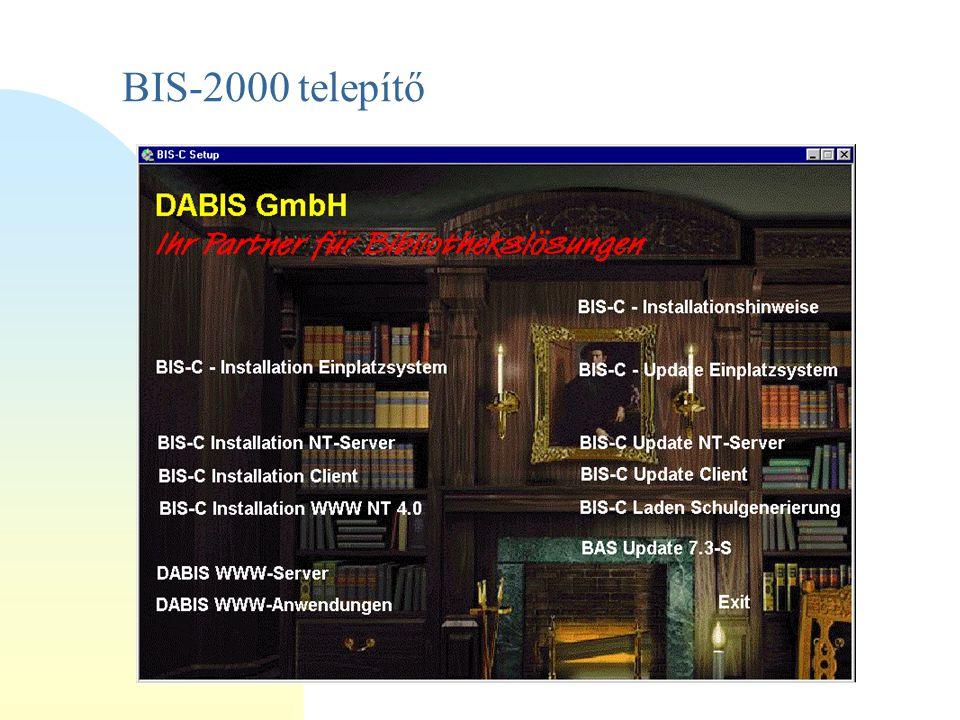 BIS-2000 telepítő