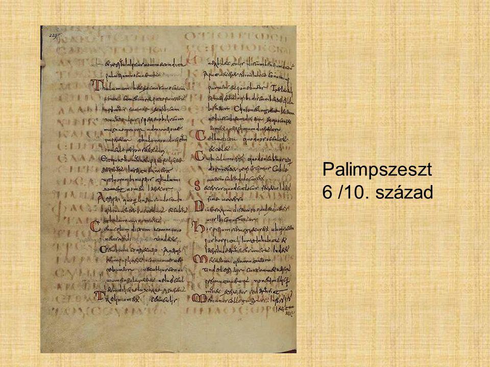 Palimpszeszt 6 /10. század