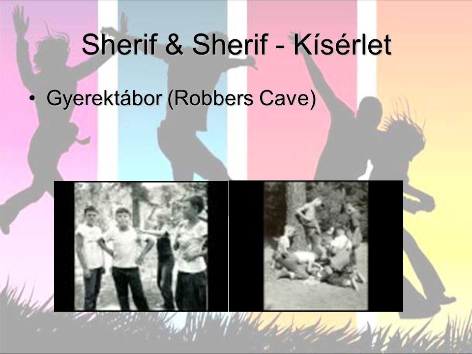 Sherif & Sherif - Kísérlet Gyerektábor (Robbers Cave)Gyerektábor (Robbers Cave)