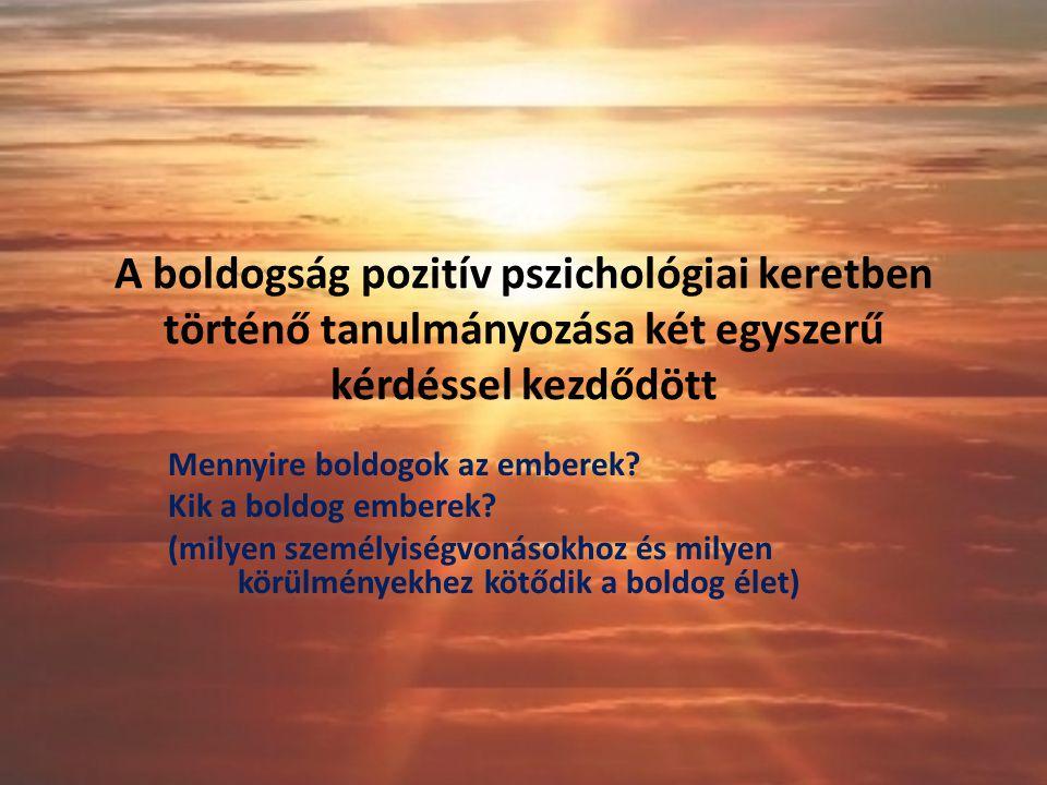 A boldogság pozitív pszichológiai keretben történő tanulmányozása két egyszerű kérdéssel kezdődött Mennyire boldogok az emberek.
