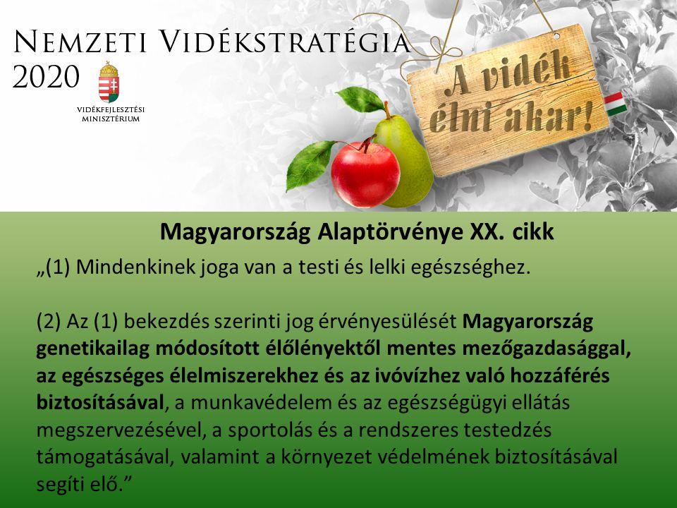 """""""(1) Mindenkinek joga van a testi és lelki egészséghez. (2) Az (1) bekezdés szerinti jog érvényesülését Magyarország genetikailag módosított élőlények"""