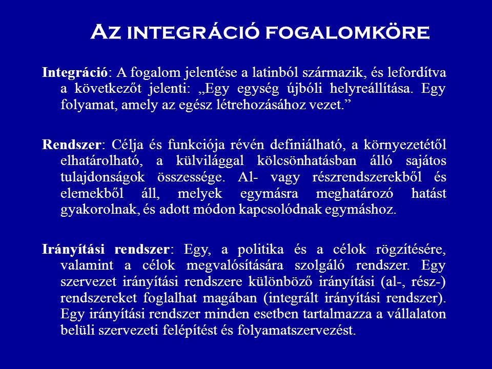 """Az integráció fogalomköre Integráció: A fogalom jelentése a latinból származik, és lefordítva a következőt jelenti: """"Egy egység újbóli helyreállítása."""