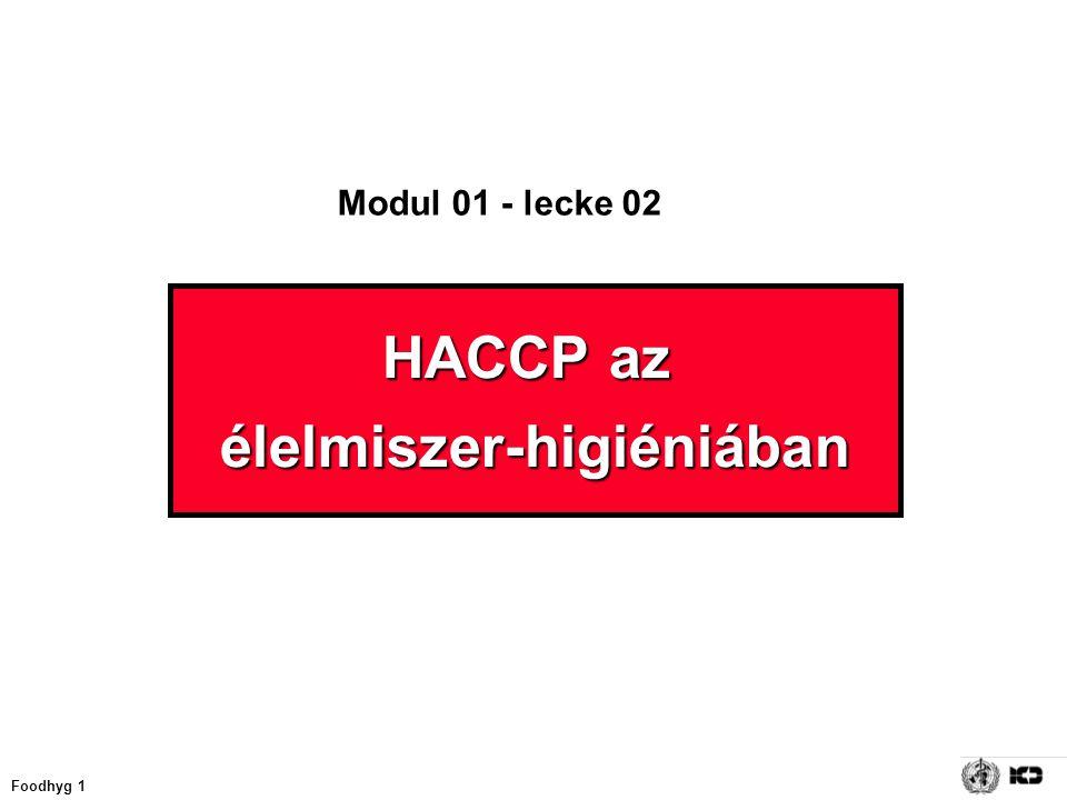 Foodhyg 1 HACCP az élelmiszer-higiéniában Modul 01 - lecke 02