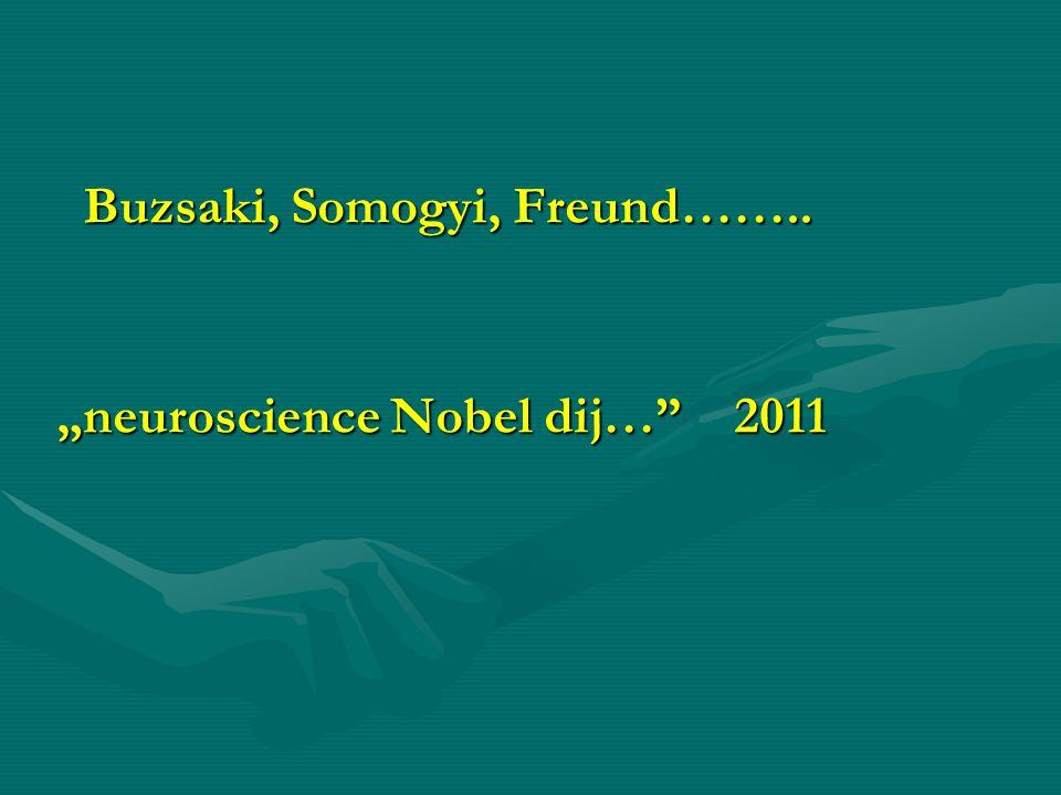 "Buzsaki, Somogyi, Freund…….. Buzsaki, Somogyi, Freund…….. ""neuroscience Nobel dij…"" 2011"