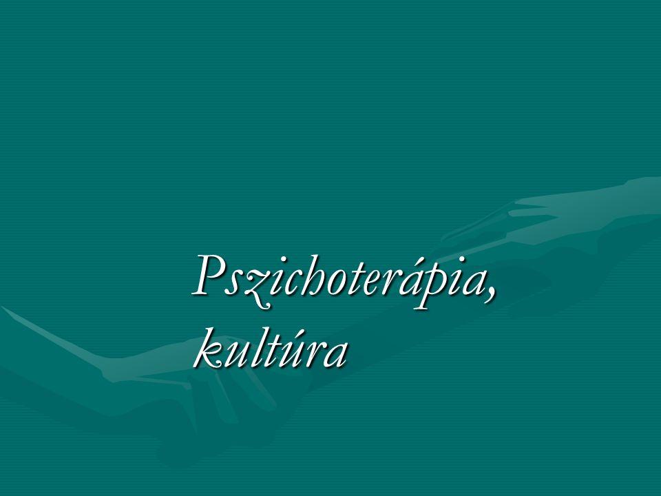 Pszichoterápia, kultúra