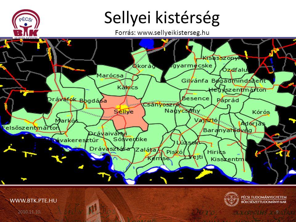 Sellyei kistérség Forrás: www.sellyeikisterseg.hu 2010.11.10.9