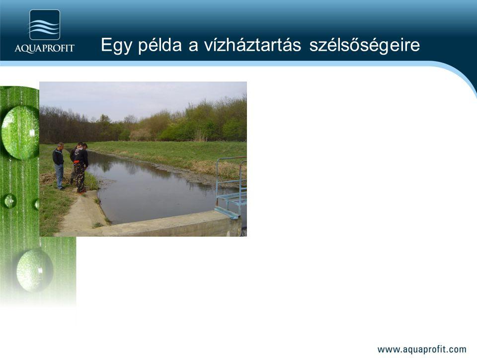 Egy példa a vízháztartás szélsőségeire