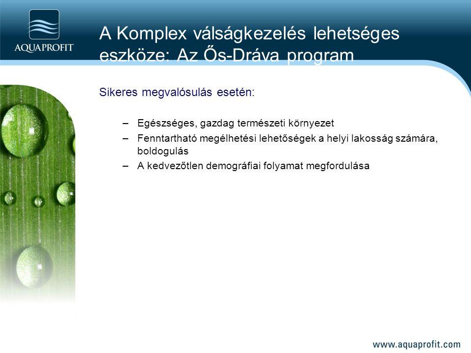A Komplex válságkezelés lehetséges eszköze: Az Ős-Dráva program Sikeres megvalósulás esetén: –Egészséges, gazdag természeti környezet –Fenntartható me