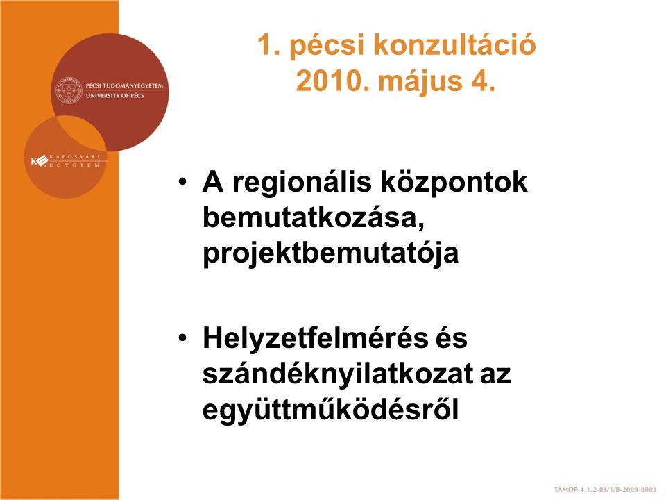 1.pécsi konzultáció 2010. május 4.