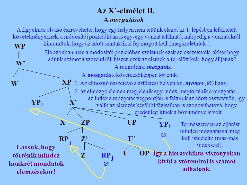 Az X'-elmélet I.