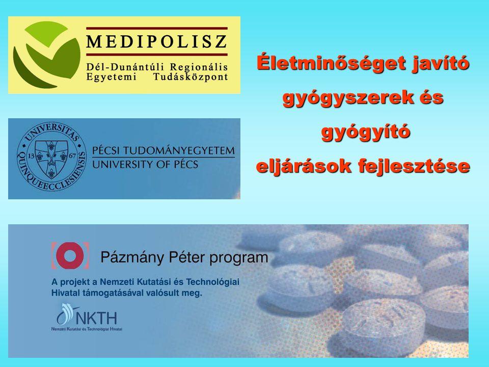 Életminőséget javító gyógyszerek és gyógyító gyógyító eljárások fejlesztése