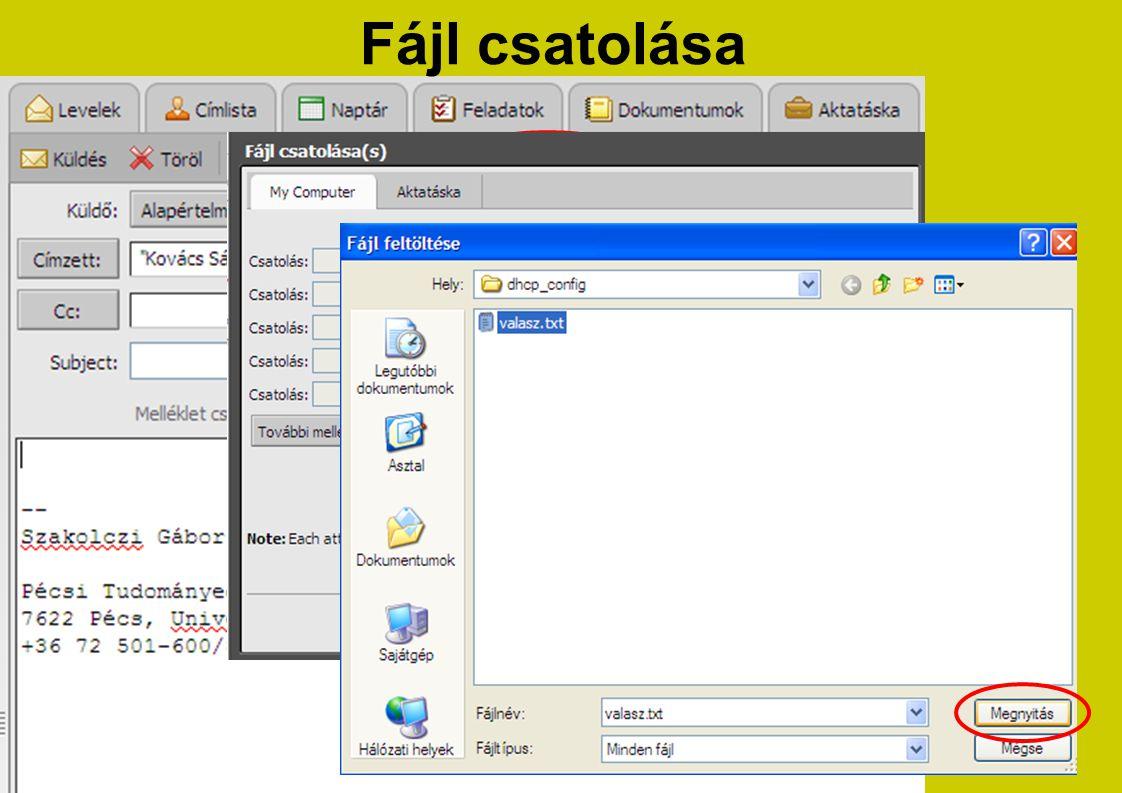 Fájl csatolása