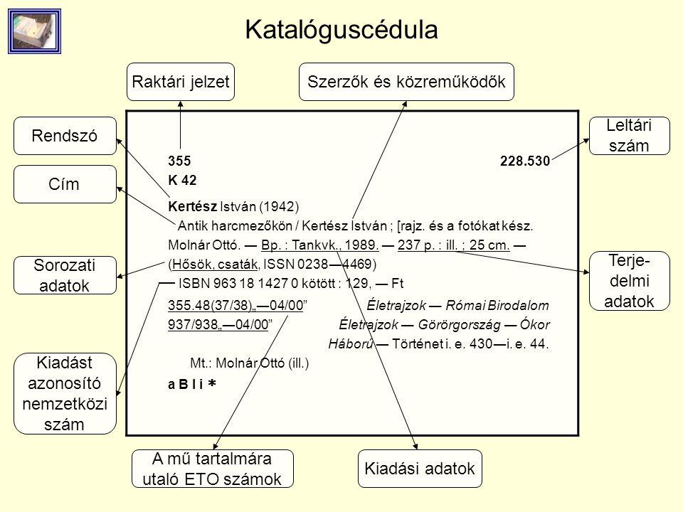 Katalóguscédula 355 K 42 228.530 Kertész István (1942) Antik harcmezőkön / Kertész István ; [rajz. és a fotókat kész. Molnár Ottó. ― Bp. : Tankvk., 19