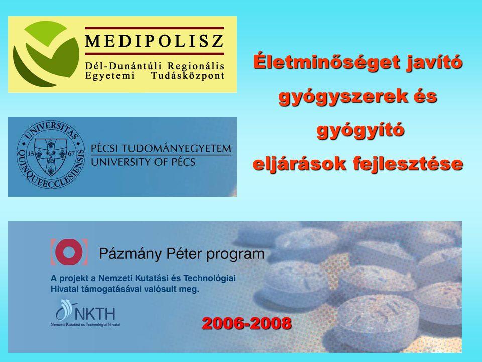 Életminőséget javító gyógyszerek és gyógyító gyógyító eljárások fejlesztése 2006-2008