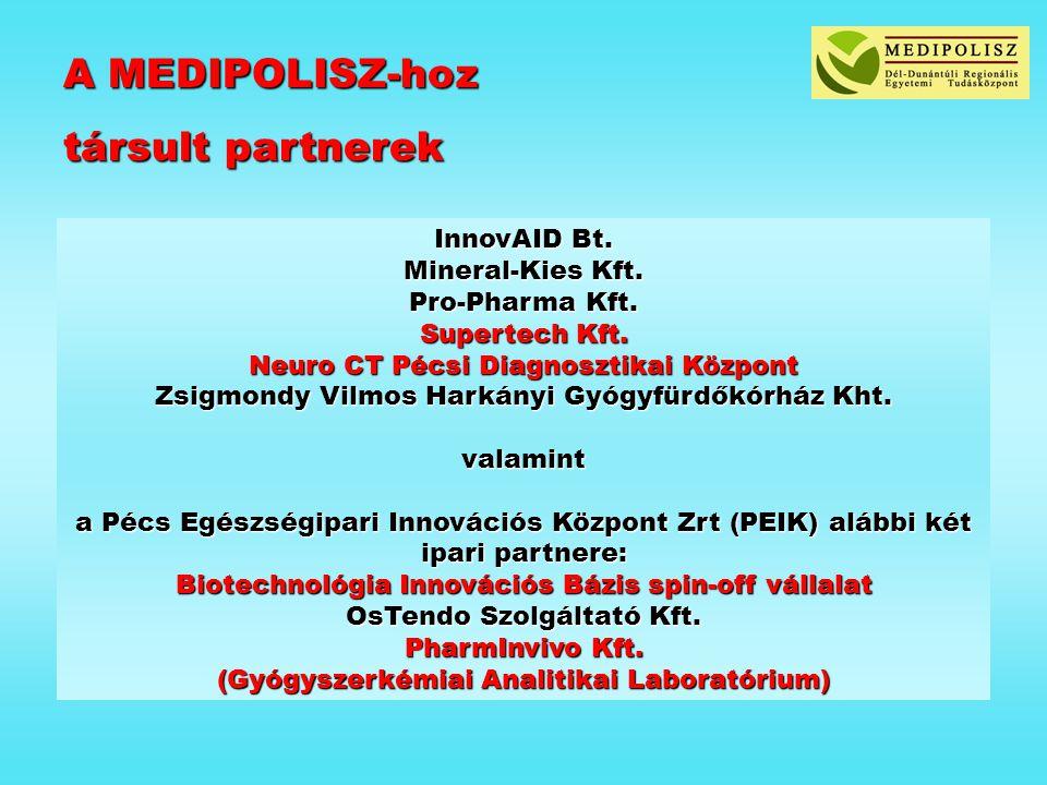 A MEDIPOLISZ-hoz társult partnerek InnovAID Bt. Mineral-Kies Kft.