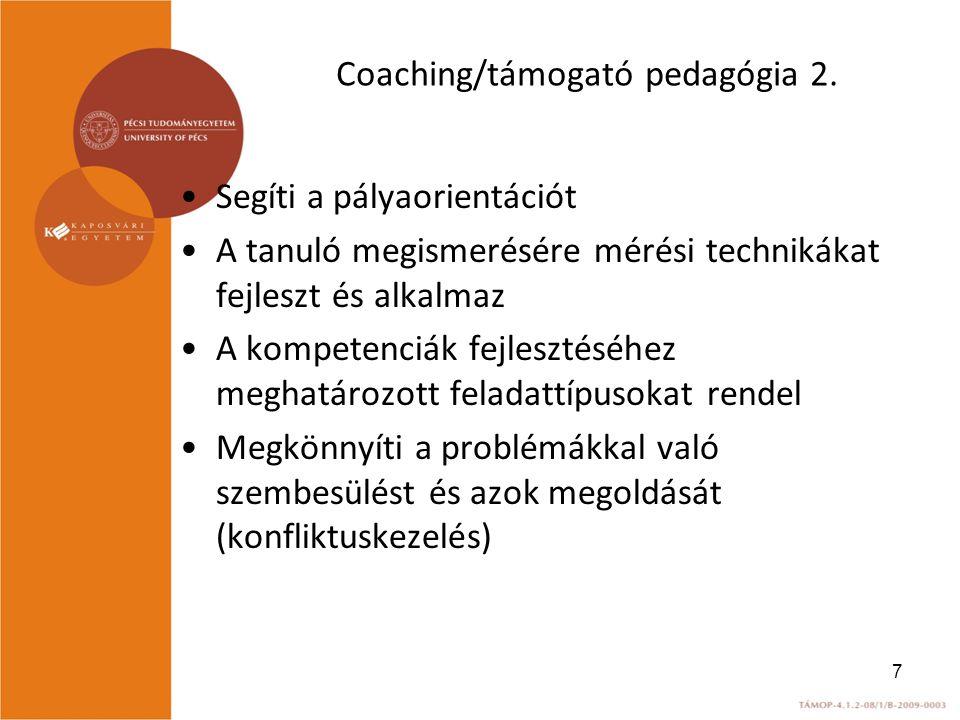 Coaching/támogató pedagógia 2.