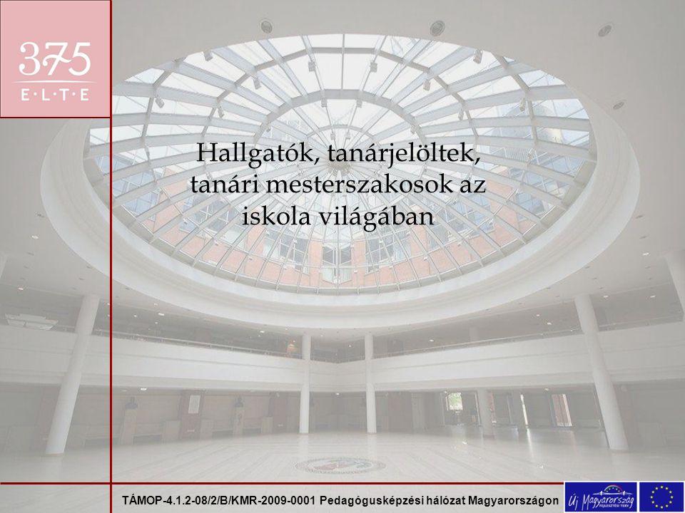 TÁMOP-4.1.2-08/2/B/KMR-2009-0001 Pedagógusképzési hálózat Magyarországon