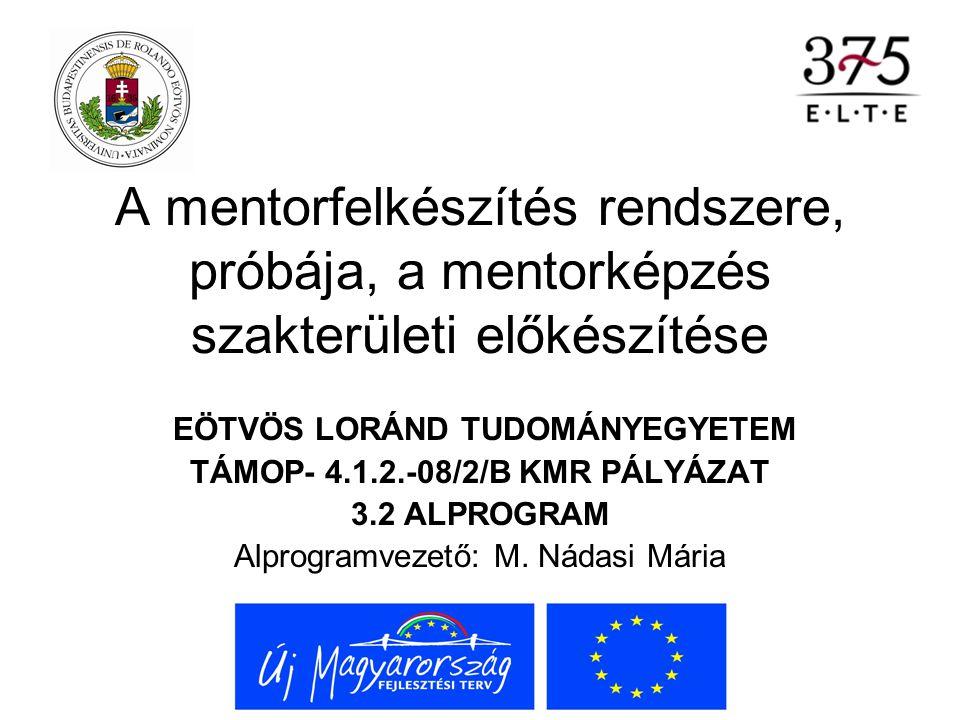 I.kötet: A mentorképzés nemzetközi áttekintése M.