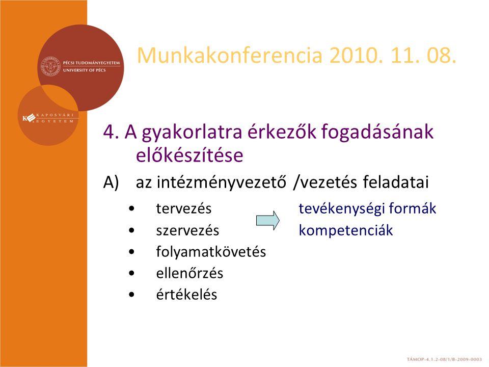 Munkakonferencia 2010. 11. 08. 4.