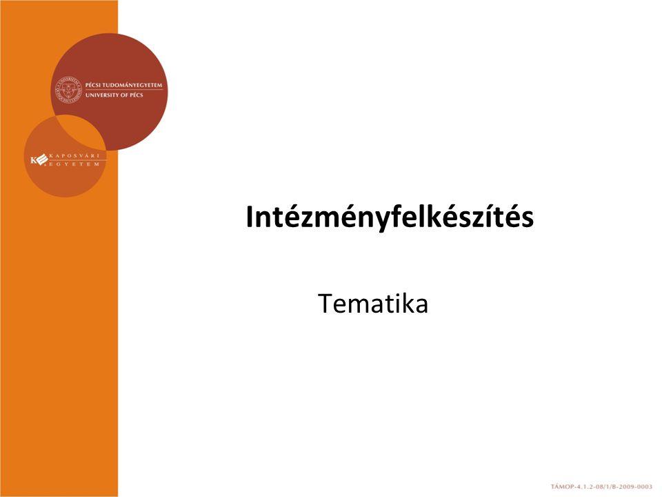 Intézményfelkészítés Tematika
