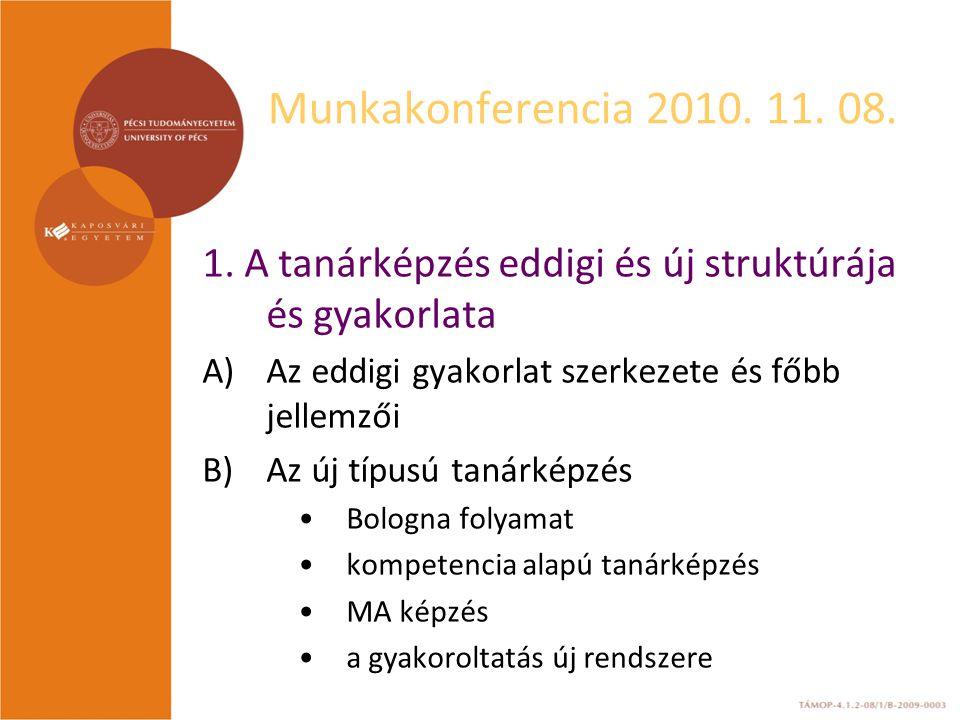 Munkakonferencia 2010. 11. 08. 1.