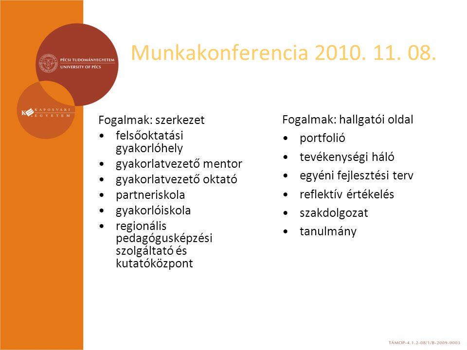 Munkakonferencia 2010.11. 08. 2.