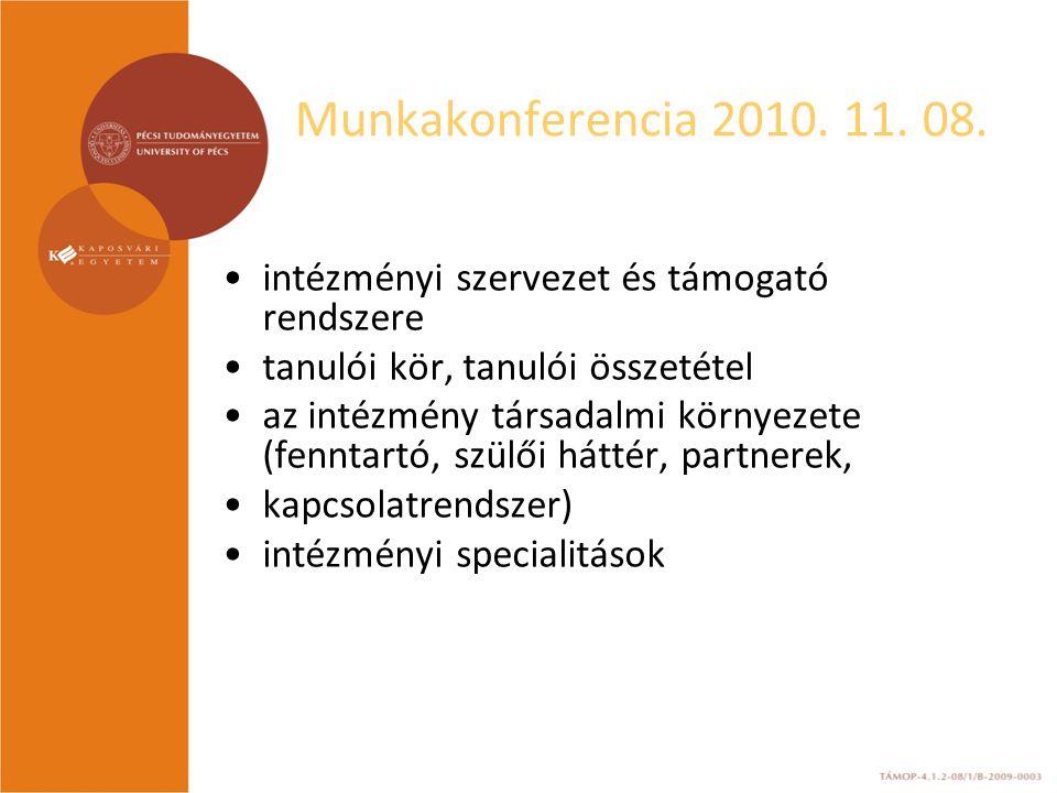 Munkakonferencia 2010.11. 08. 3.