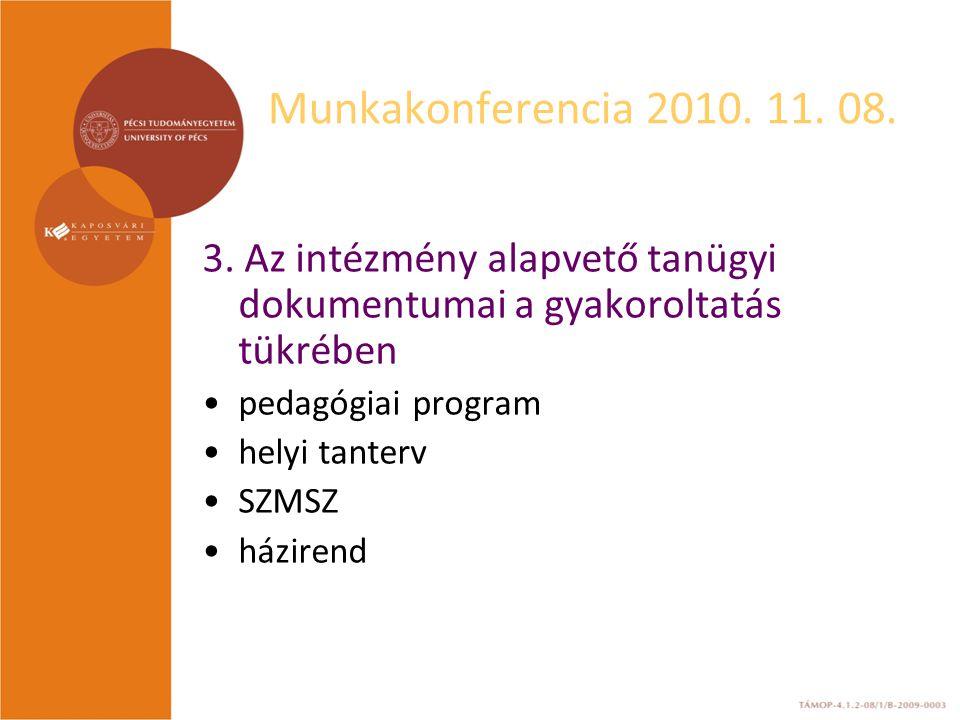 Munkakonferencia 2010. 11. 08. 3.