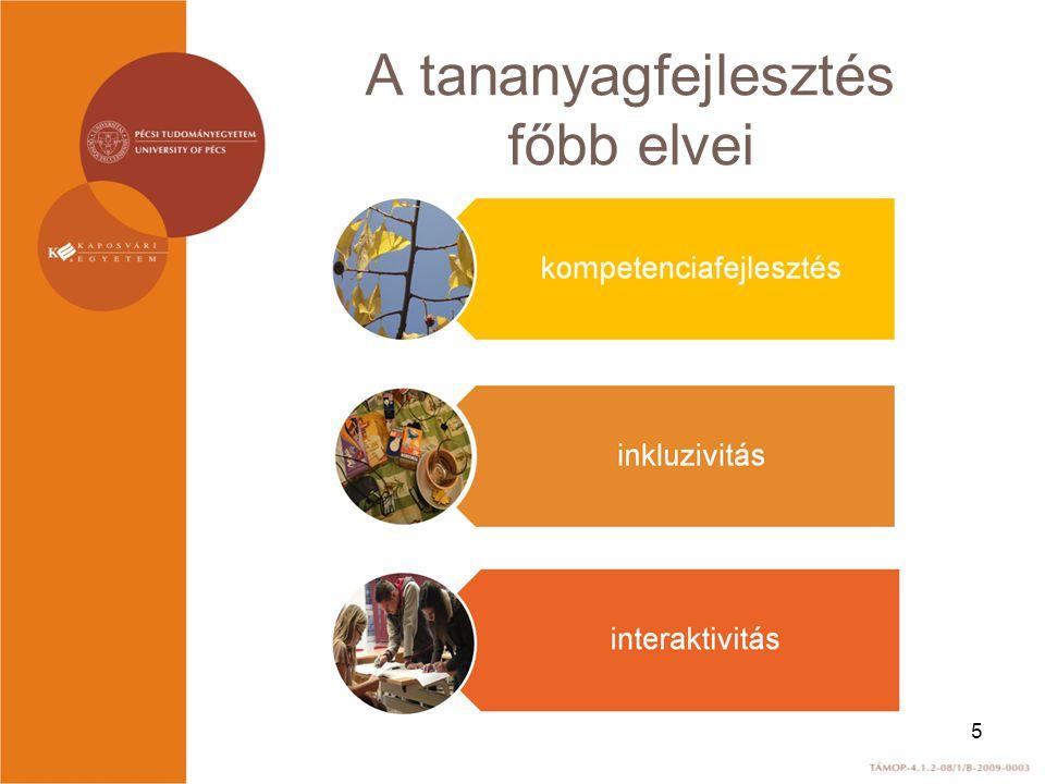 A tananyagfejlesztés főbb elvei 5