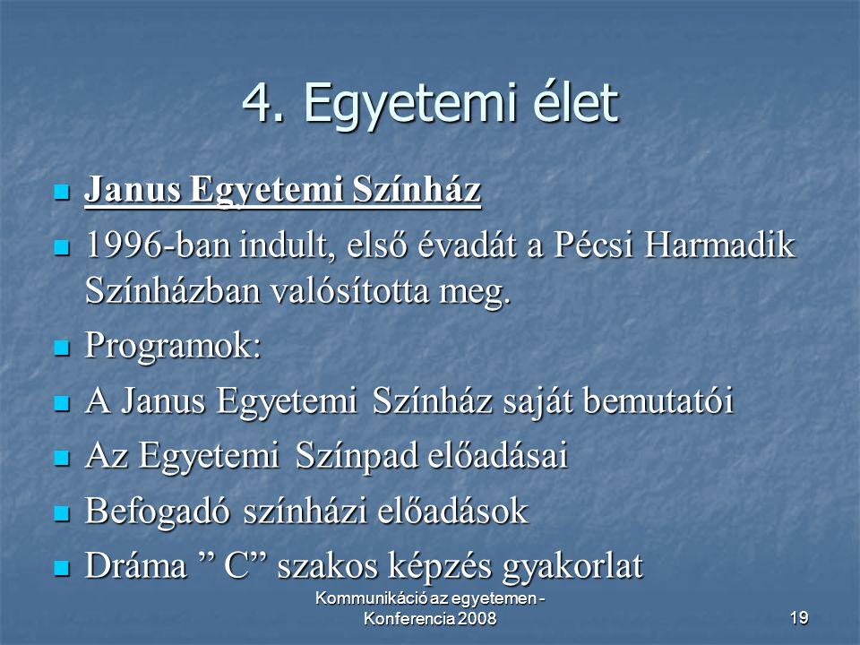 Kommunikáció az egyetemen - Konferencia 200819 4.