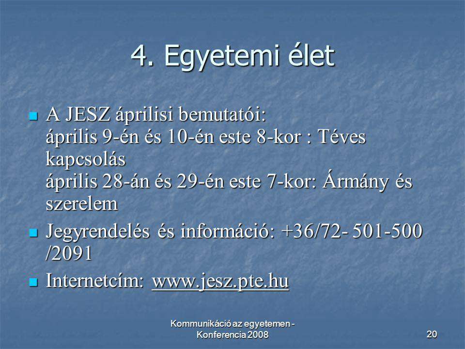 Kommunikáció az egyetemen - Konferencia 200820 4.