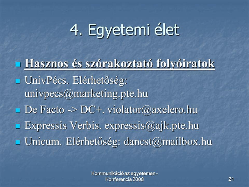 Kommunikáció az egyetemen - Konferencia 200821 4.