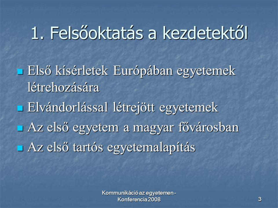Kommunikáció az egyetemen - Konferencia 200824 4.