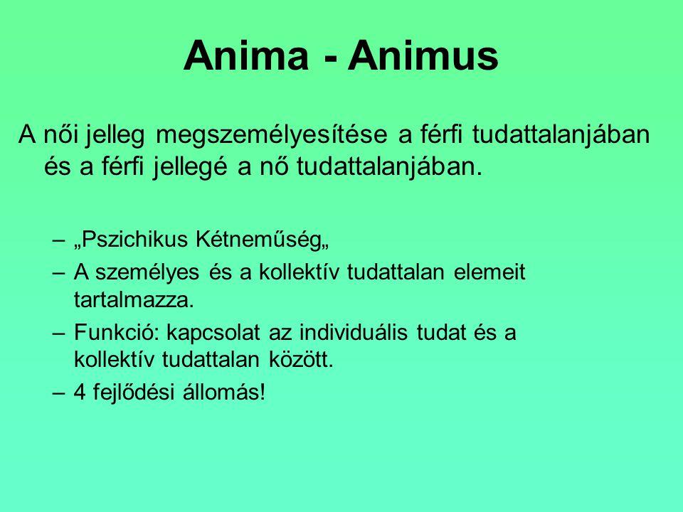 """Anima - Animus A női jelleg megszemélyesítése a férfi tudattalanjában és a férfi jellegé a nő tudattalanjában. –""""Pszichikus Kétneműség"""" –A személyes é"""