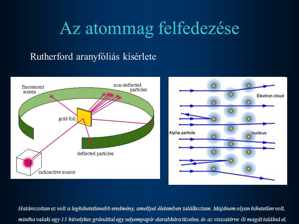 Elemi részecskék felfedezése Katódsugárcső kísérlet Az elektron felfedezése