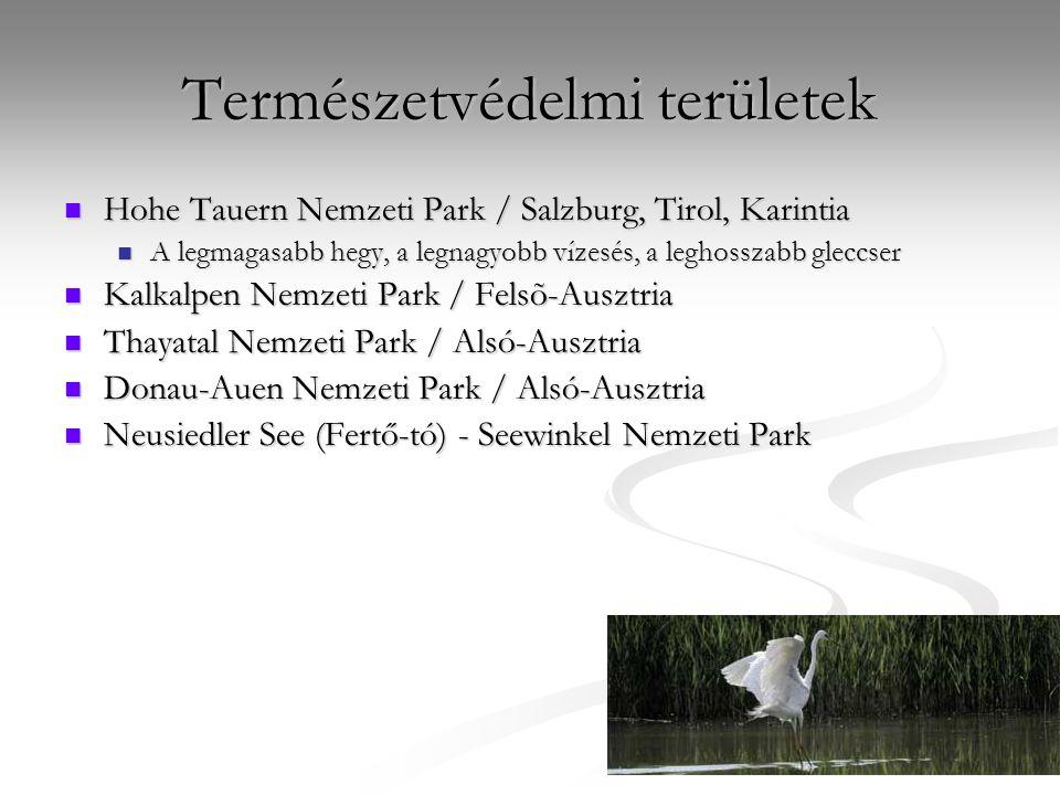 Természetvédelmi területek Hohe Tauern Nemzeti Park / Salzburg, Tirol, Karintia Hohe Tauern Nemzeti Park / Salzburg, Tirol, Karintia A legmagasabb heg