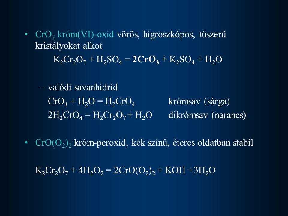 magasabb hőmérsékleten halogénekkel, oxigénnel, kénnel, nitrogénnel, szénnel, szilíciummal is reagál W + 3F 2 = WF 6 Vízből csak magasabb hőmérsékleten fejleszt hidrogént.