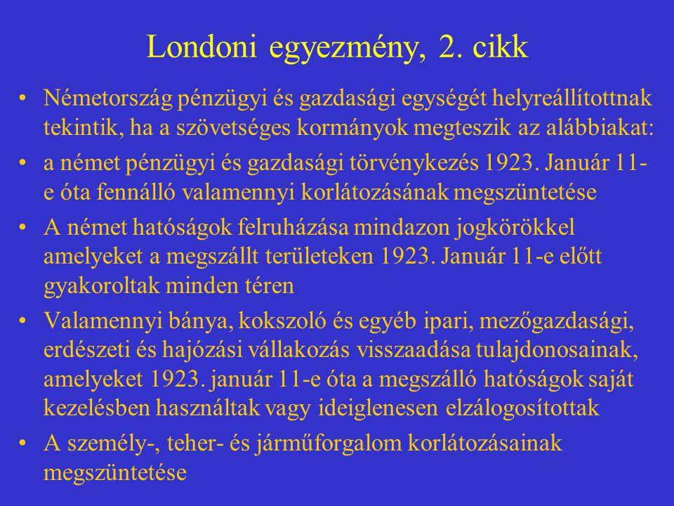 Londoni egyezmény, 2.