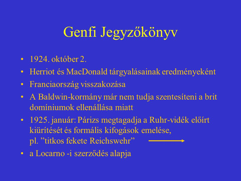 Genfi Jegyzőkönyv 1924.október 2.