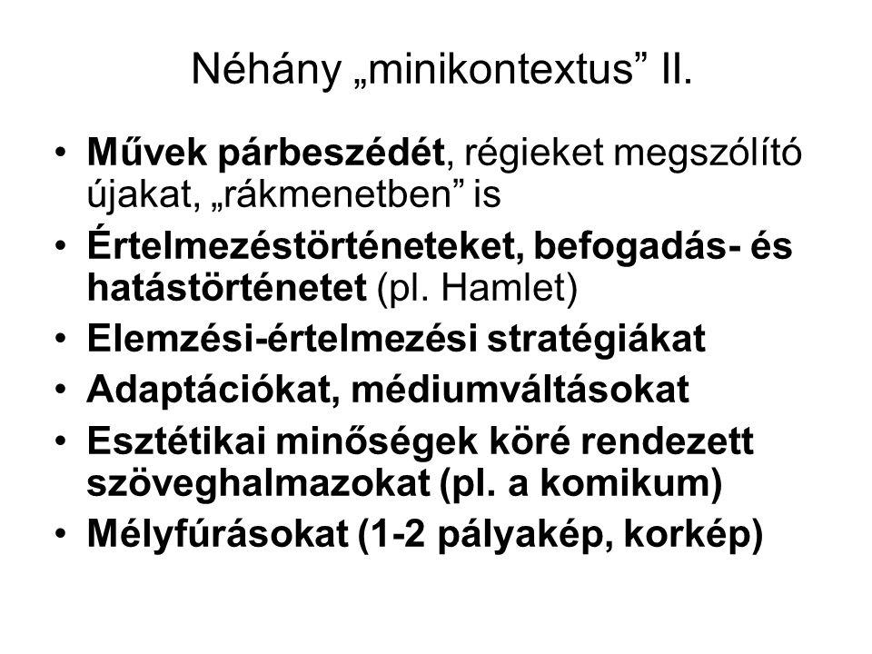 """Néhány """"minikontextus II."""