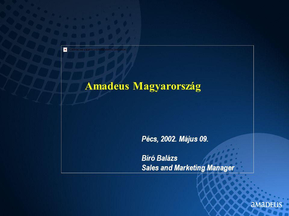 Amadeus Magyarország Pécs, 2002. Május 09. Bíró Balázs Sales and Marketing Manager
