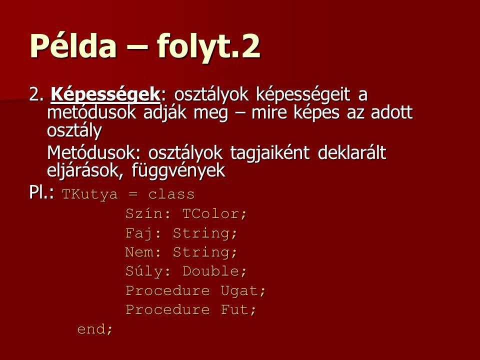 Példa – folyt.2 2.