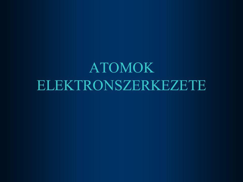 ATOMOK ELEKTRONSZERKEZETE