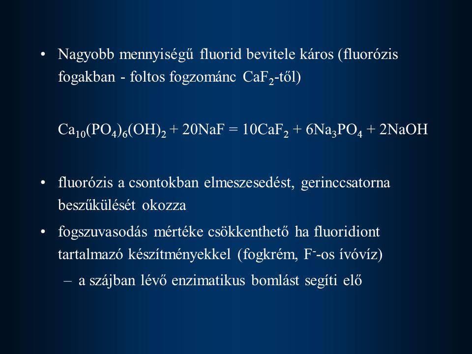 Klór biológiai szerepe főleg az extracelluláris térben található meg Cl - formában a sejtmembránon keresztül transzportmechanizmusok biztosítják gyomorban